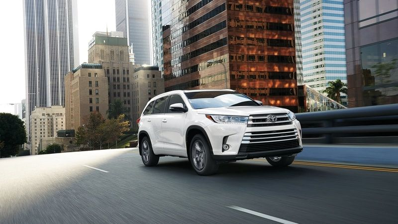 2019 Toyota Highlander Hybrid from manufacturer website, Toyota.com